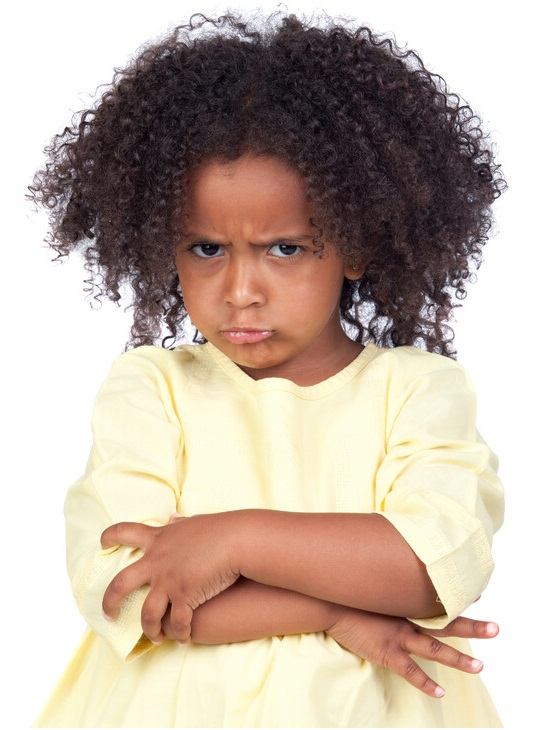 An angry little girl picture representing Anger Management workshop