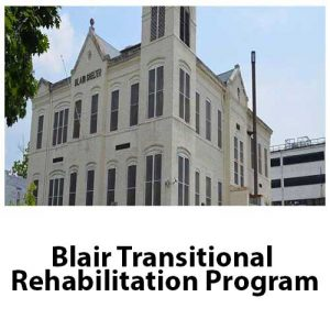 A picture on the Community Partners page displaying Blair Transitional Rehabilitation Program's logo