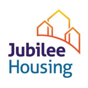 A picture on the Community Partners page displaying Jubilee Housing's organization's logo