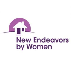 A picture on the Community Partners page displaying New Endeavors by Women logo