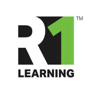 A picture on the Community Partners page displaying R1 Learning's logo