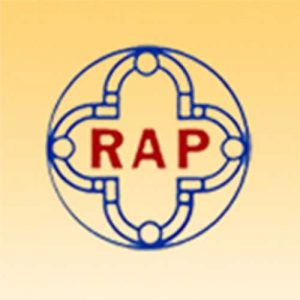 A picture on the Community Partners page displaying the RAP organization's logo