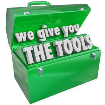 "A picture with the words ""We give you the tools"" to represent the Educational Series Workshop"
