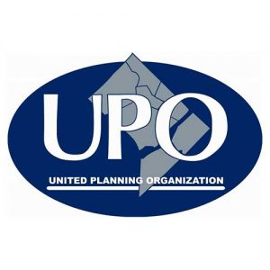 A picture on the Community Partners page displaying UPO's logo
